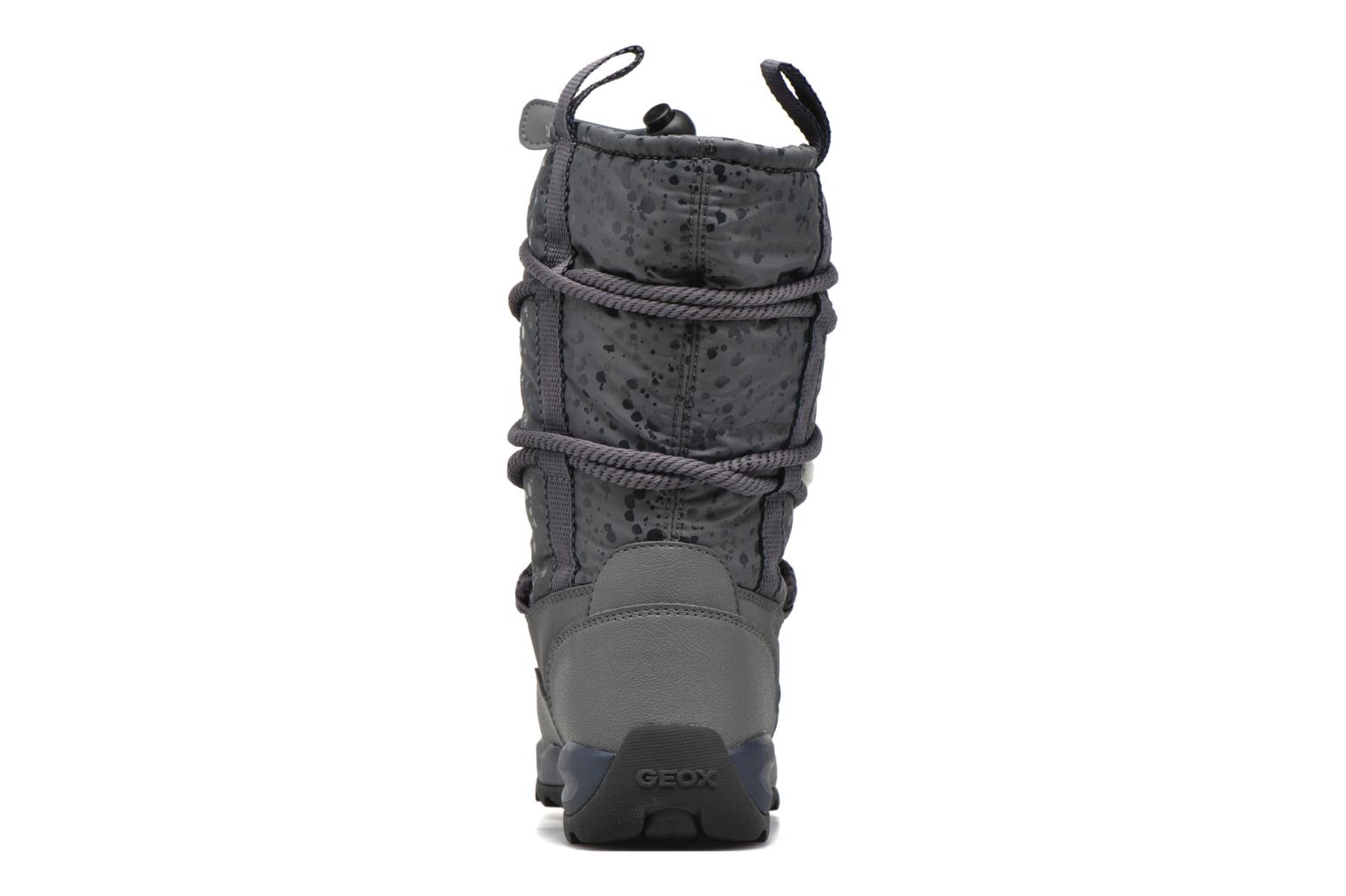 Boots & wellies Geox J Orizont G. Abx A J642BA Grey view from the right