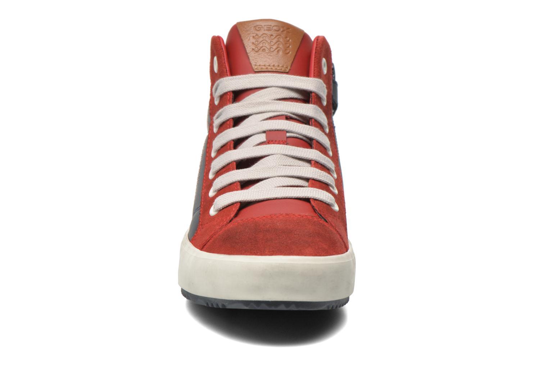 Baskets Geox J Alonisso B. B J642Cb Rouge vue portées chaussures