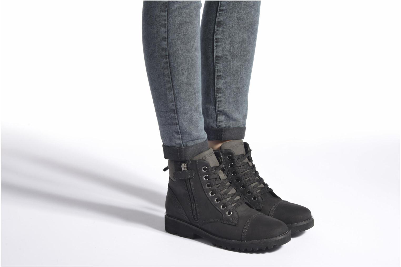 Bottines et boots Geox J Axel B. Wpf A J643Da Noir vue bas / vue portée sac