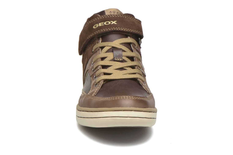 Baskets Geox J Garcia B. A J64B6A Marron vue portées chaussures