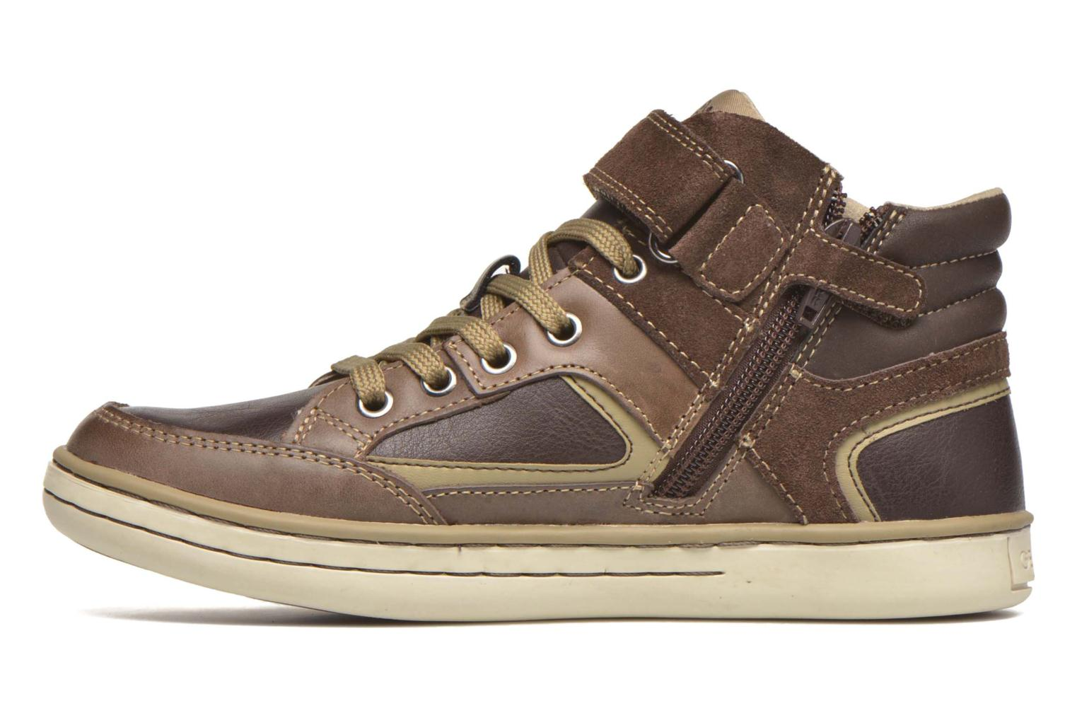 Trainers Geox J Garcia B. A J64B6A Brown front view
