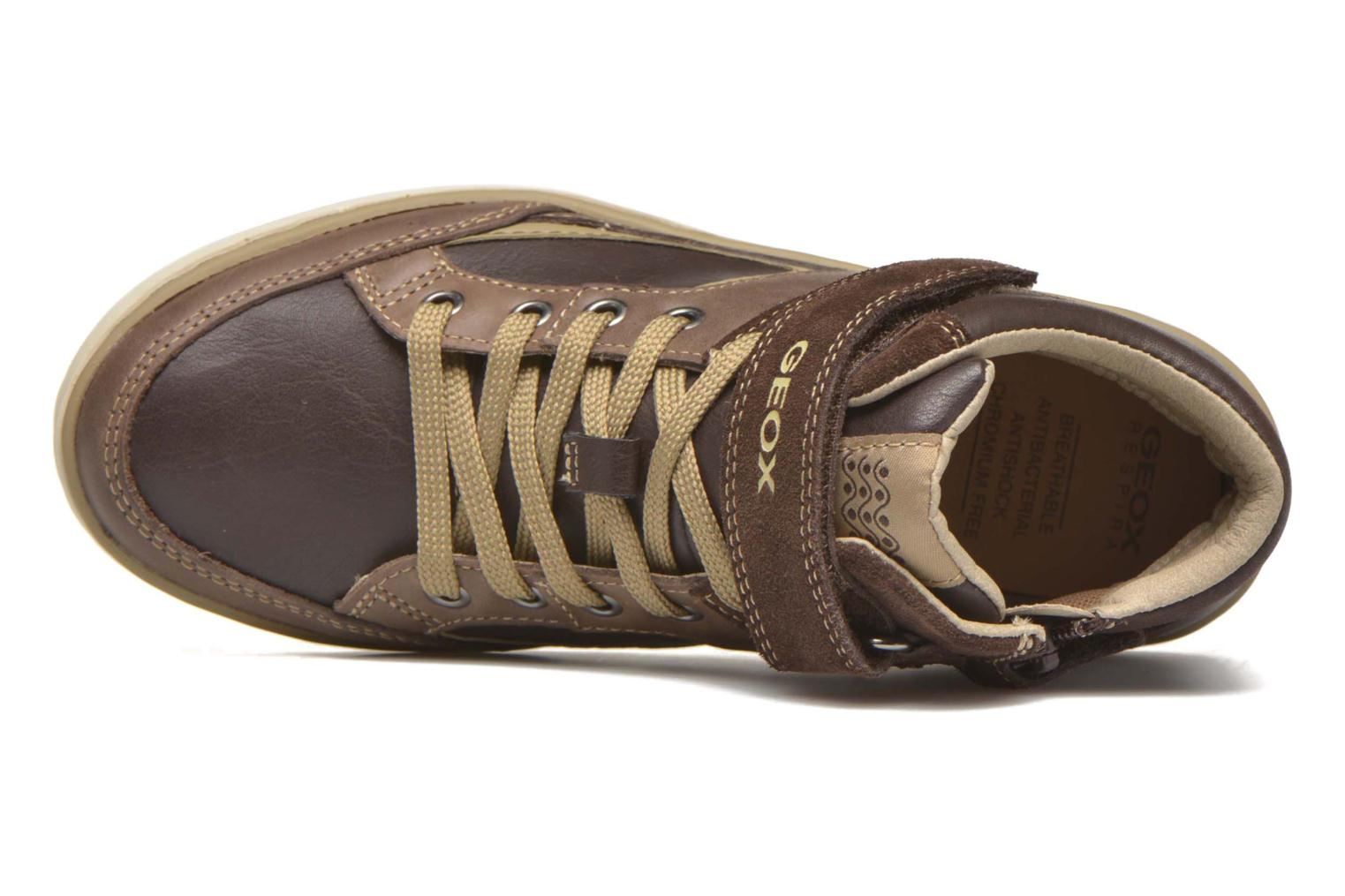 Trainers Geox J Garcia B. A J64B6A Brown view from the left