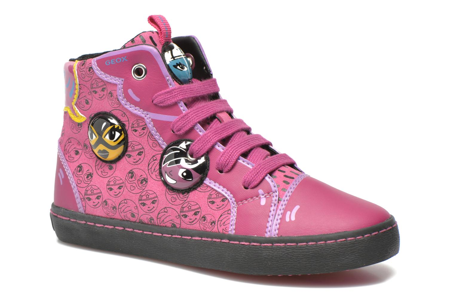 Trainers Geox J Kiwi G. A J64D5A Pink detailed view/ Pair view