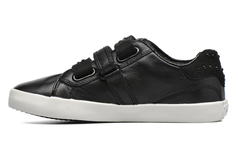 Sneaker Geox J Kiwi G. D J64D5D schwarz ansicht von vorne