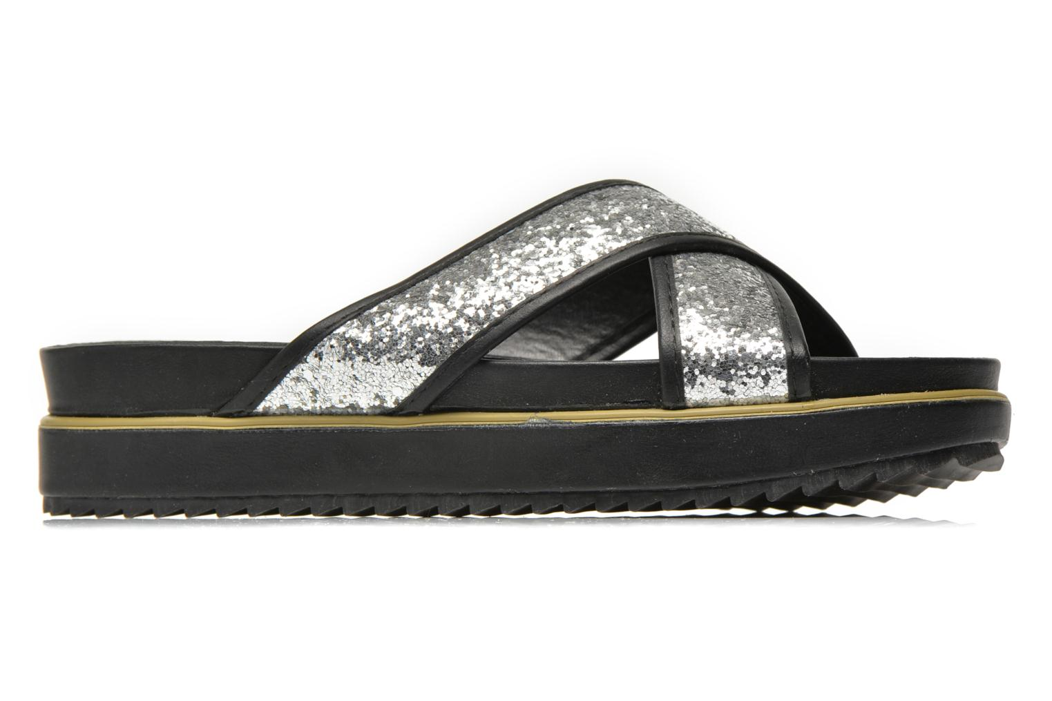 Mules & clogs Xti Levana 45234 Silver back view