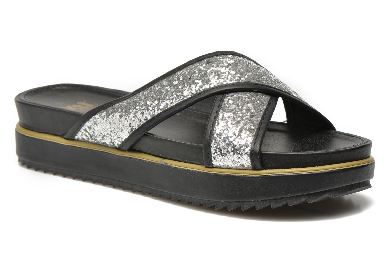Clogs og træsko Xti Levana 45234 Sølv detaljeret billede af skoene