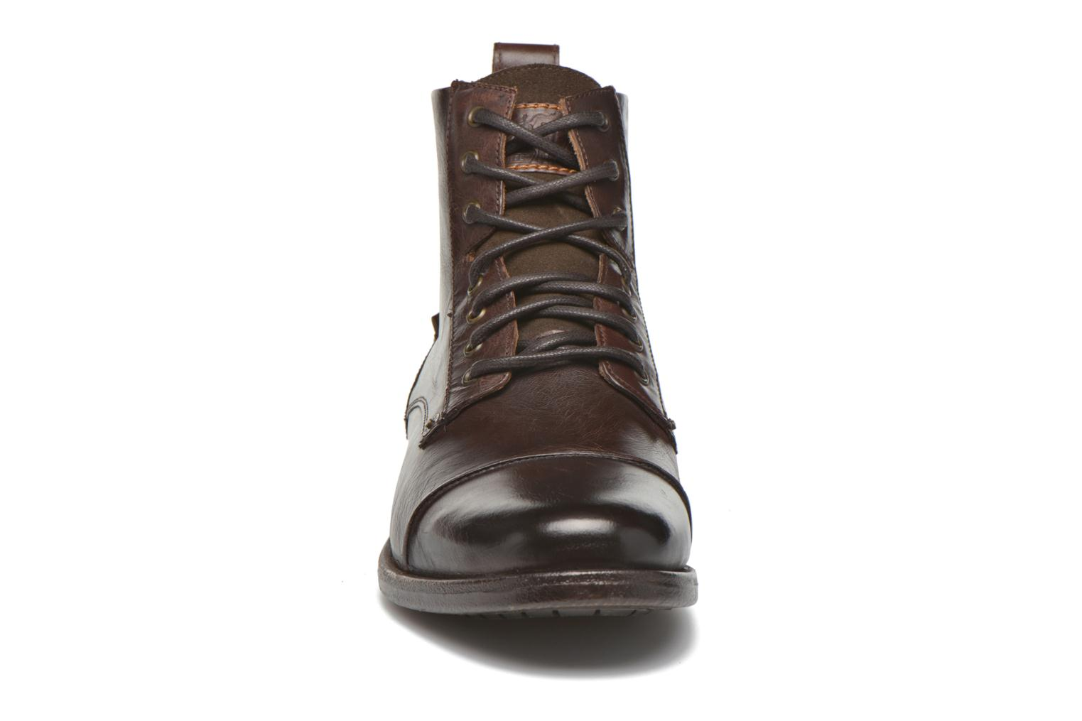 Ankle boots Levi's Emerson Lace Up Brown model view
