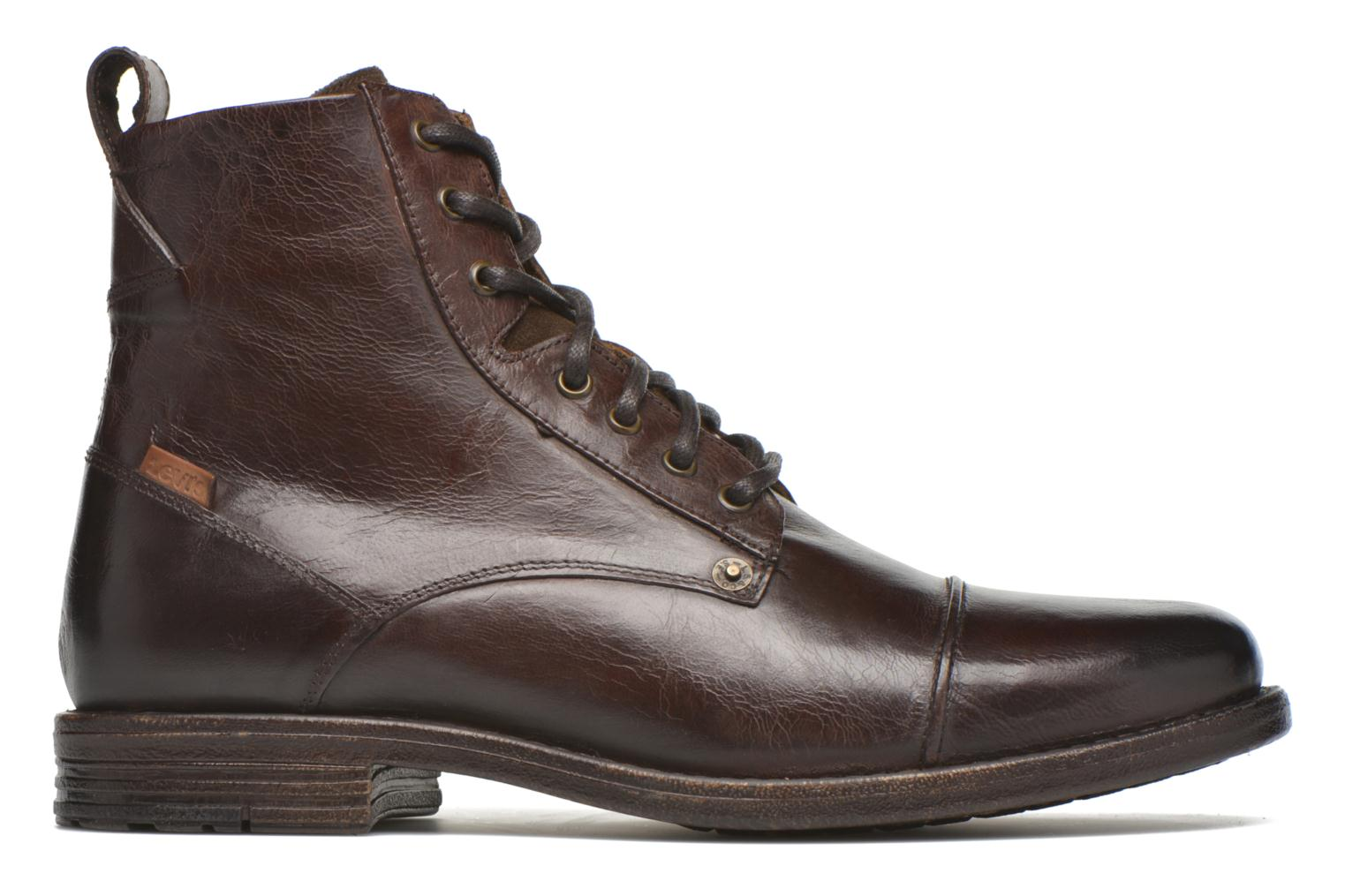 Botines  Levi's Emerson Lace Up Marrón vistra trasera