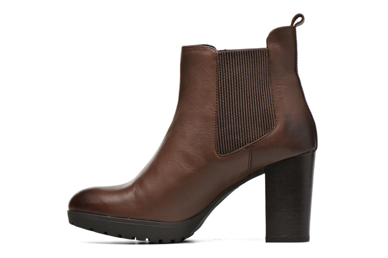 Ankle boots Georgia Rose Anateau Brown front view