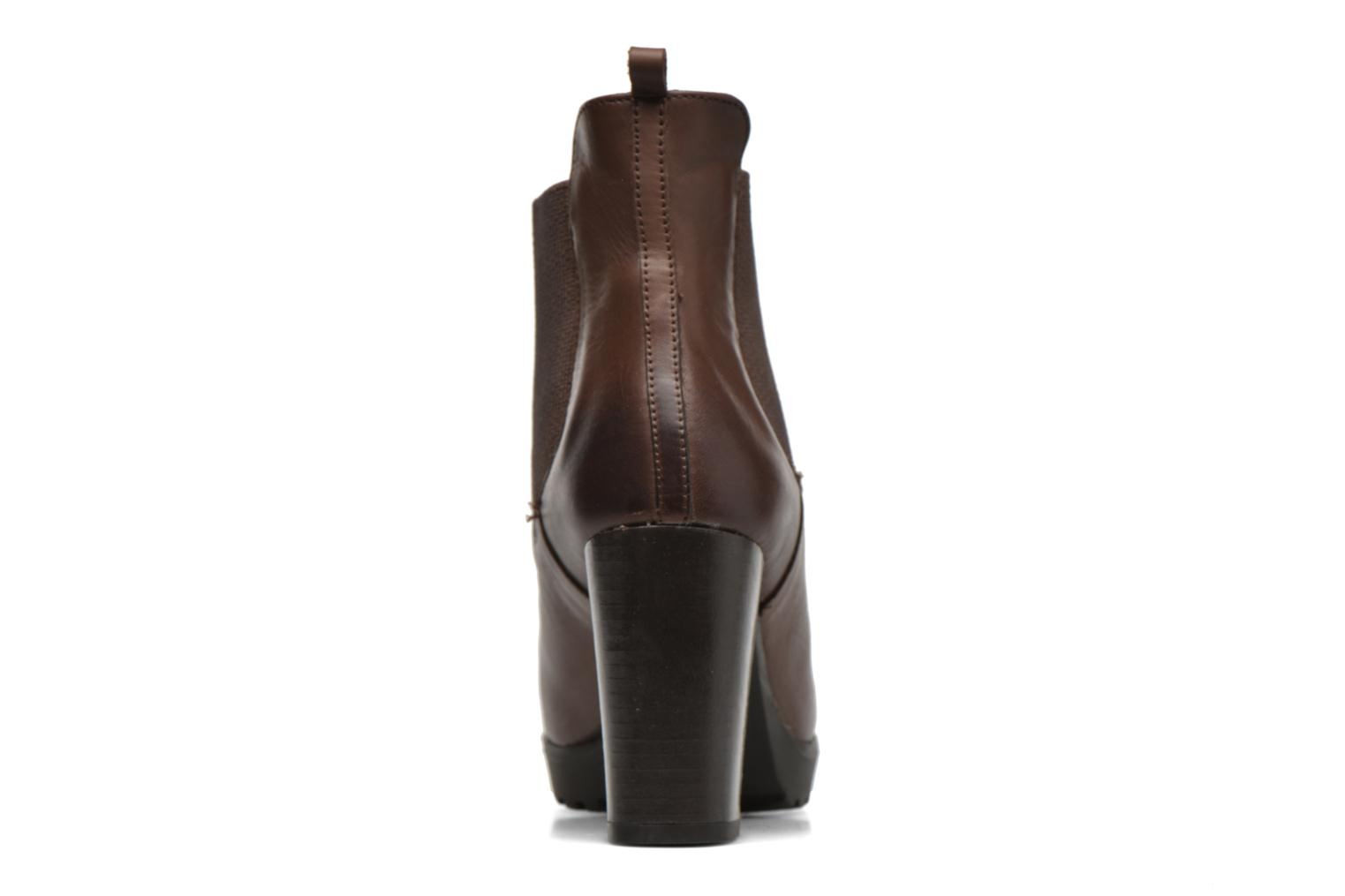 Ankle boots Georgia Rose Anateau Brown view from the right