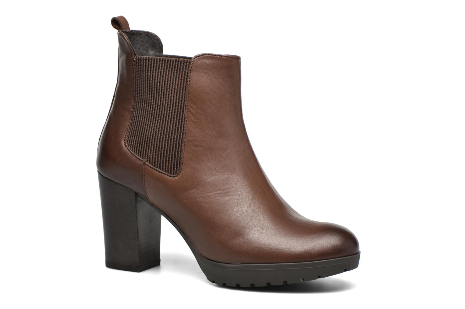 Ankle boots Georgia Rose Anateau Brown detailed view/ Pair view