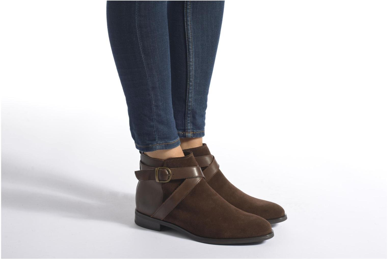 Bottines et boots Georgia Rose Anoucle Marron vue bas / vue portée sac