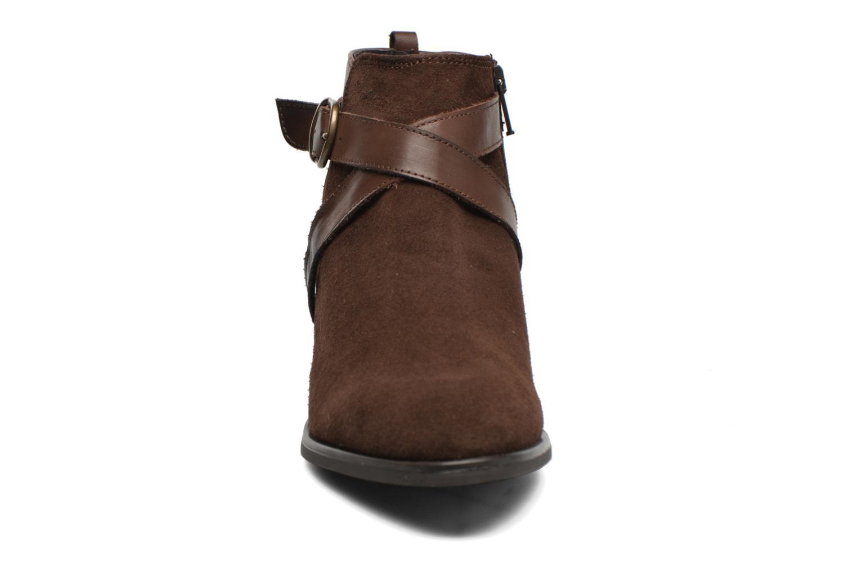 Bottines et boots Georgia Rose Anoucle Marron vue portées chaussures