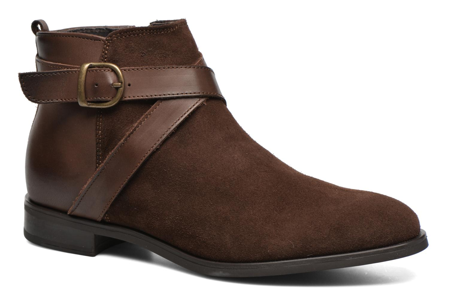 Ankle boots Georgia Rose Anoucle Brown detailed view/ Pair view