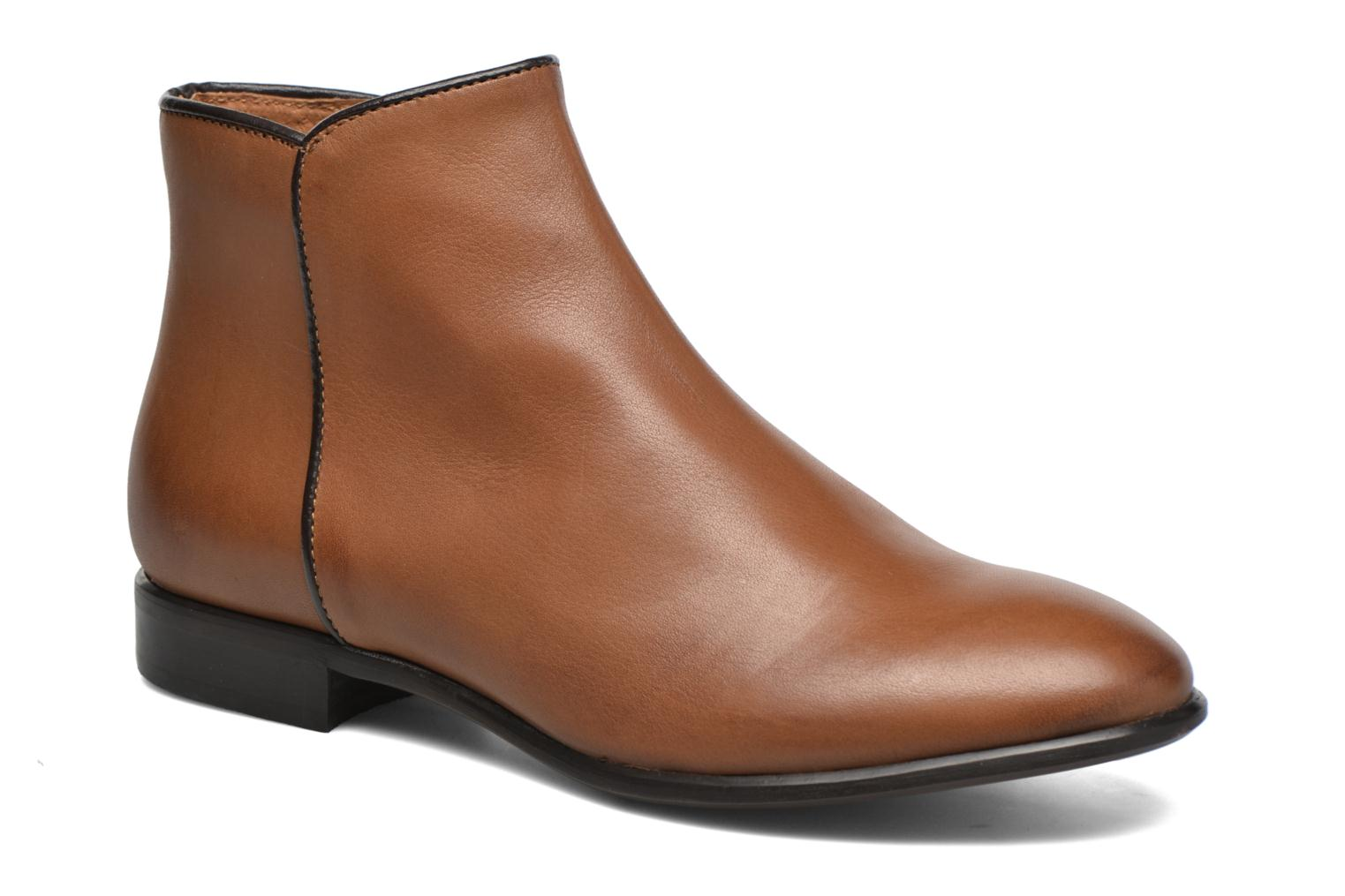 Ankle boots Georgia Rose Anouping Brown detailed view/ Pair view