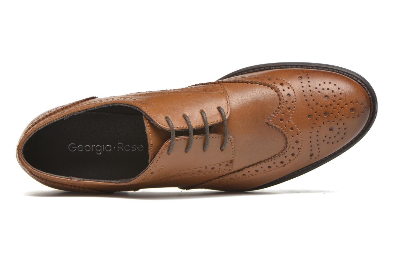 Chaussures à lacets Georgia Rose Anglish Marron vue gauche