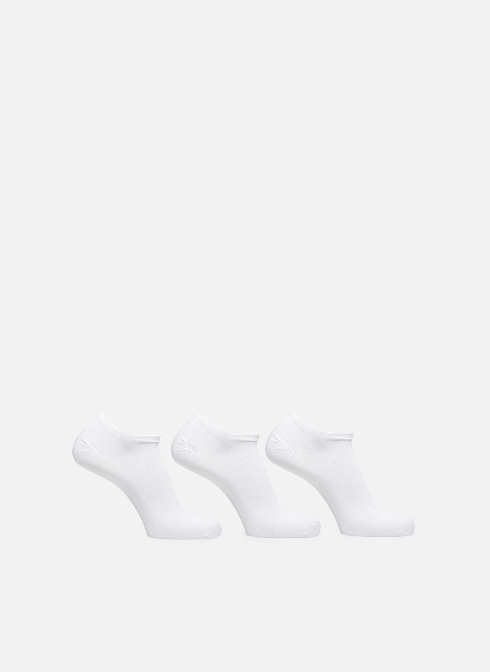 Socks & tights Sarenza Wear Chaussettes Homme Invisibles unies Pack de 3 Coton White detailed view/ Pair view