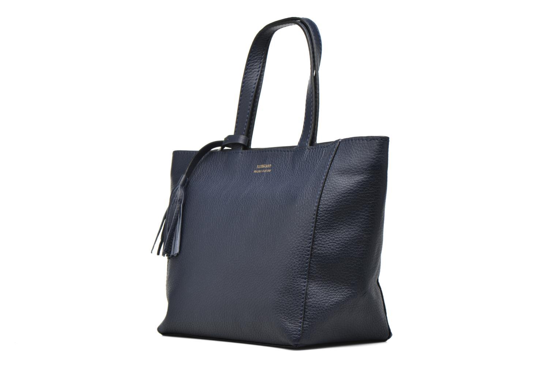 Handtaschen Loxwood CABAS PARISIEN S Cuir grainé blau schuhe getragen