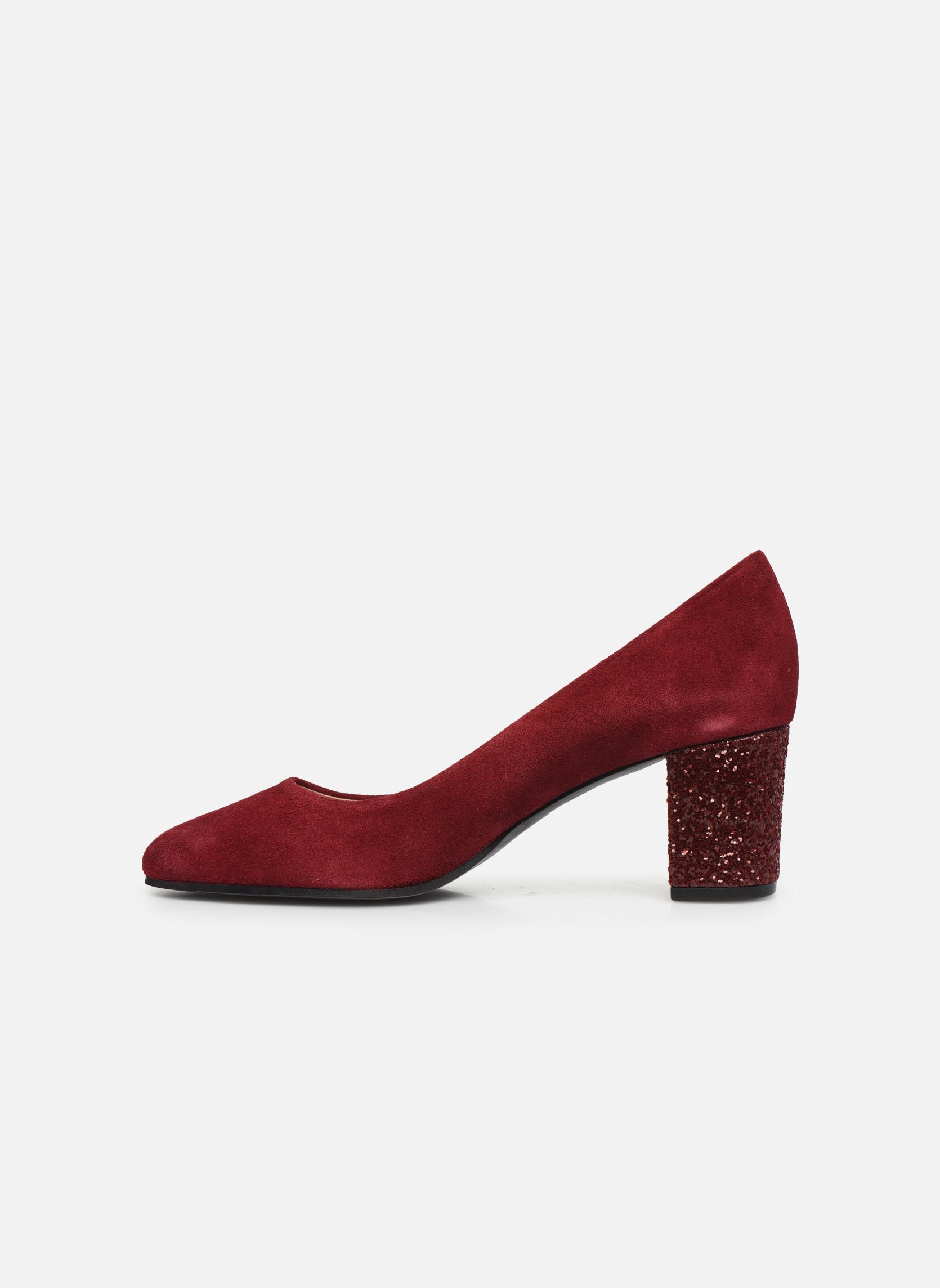 High heels Georgia Rose Jalerba Burgundy front view