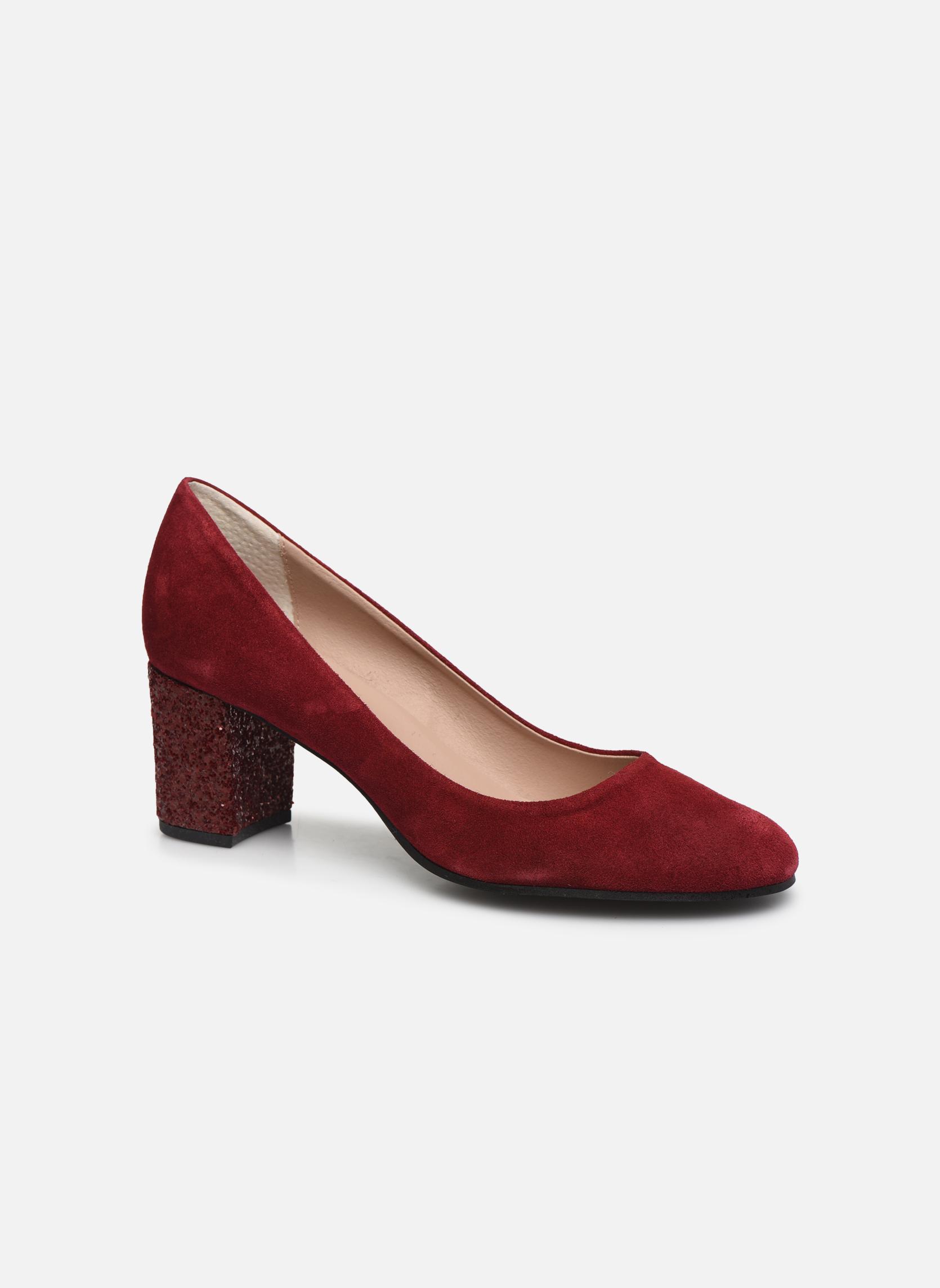 High heels Georgia Rose Jalerba Burgundy detailed view/ Pair view