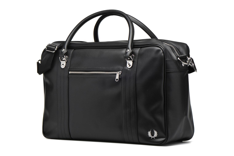 Piqué overnight bag Black