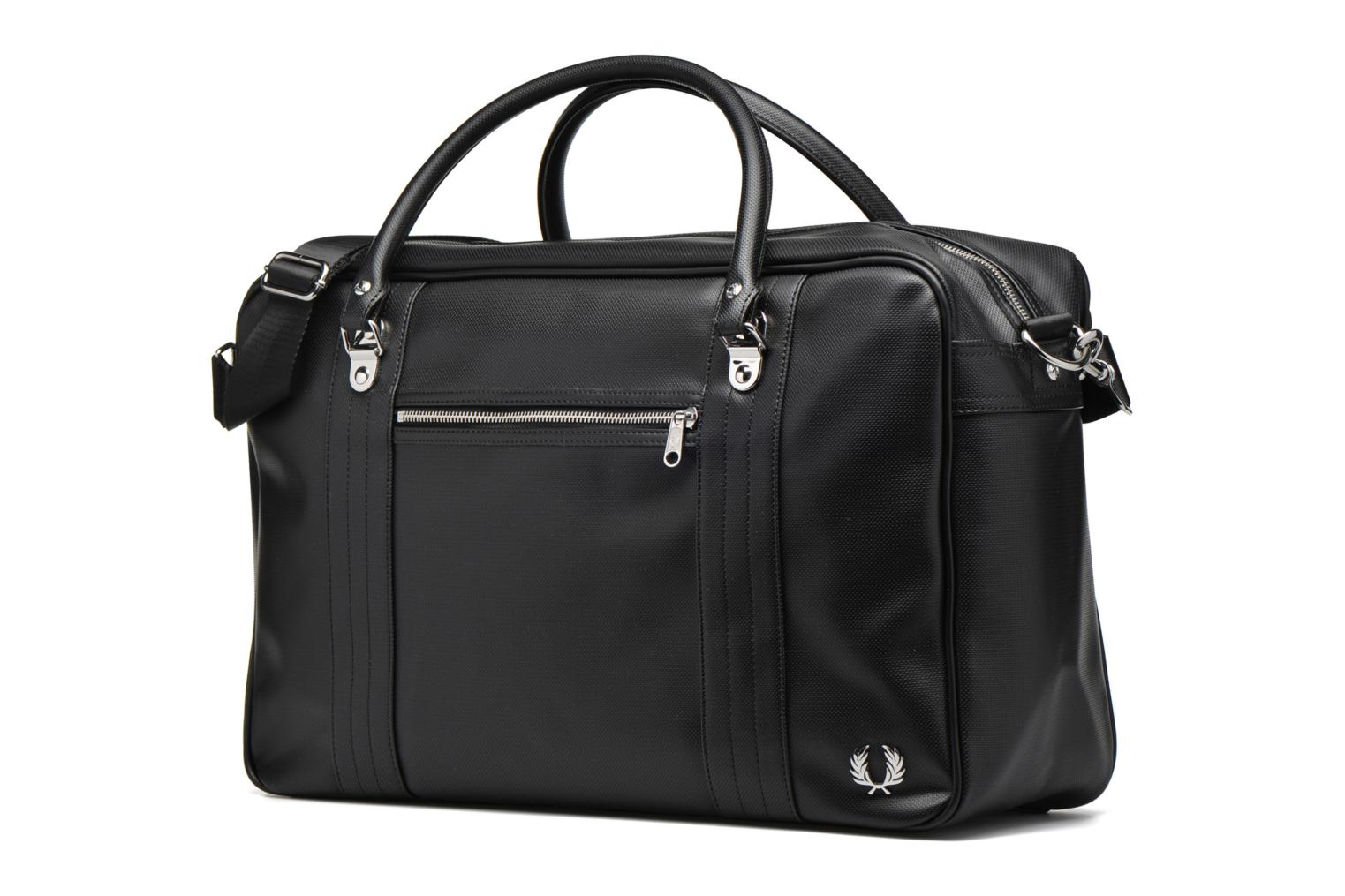 Bagage Fred Perry Piqué overnight bag Zwart model