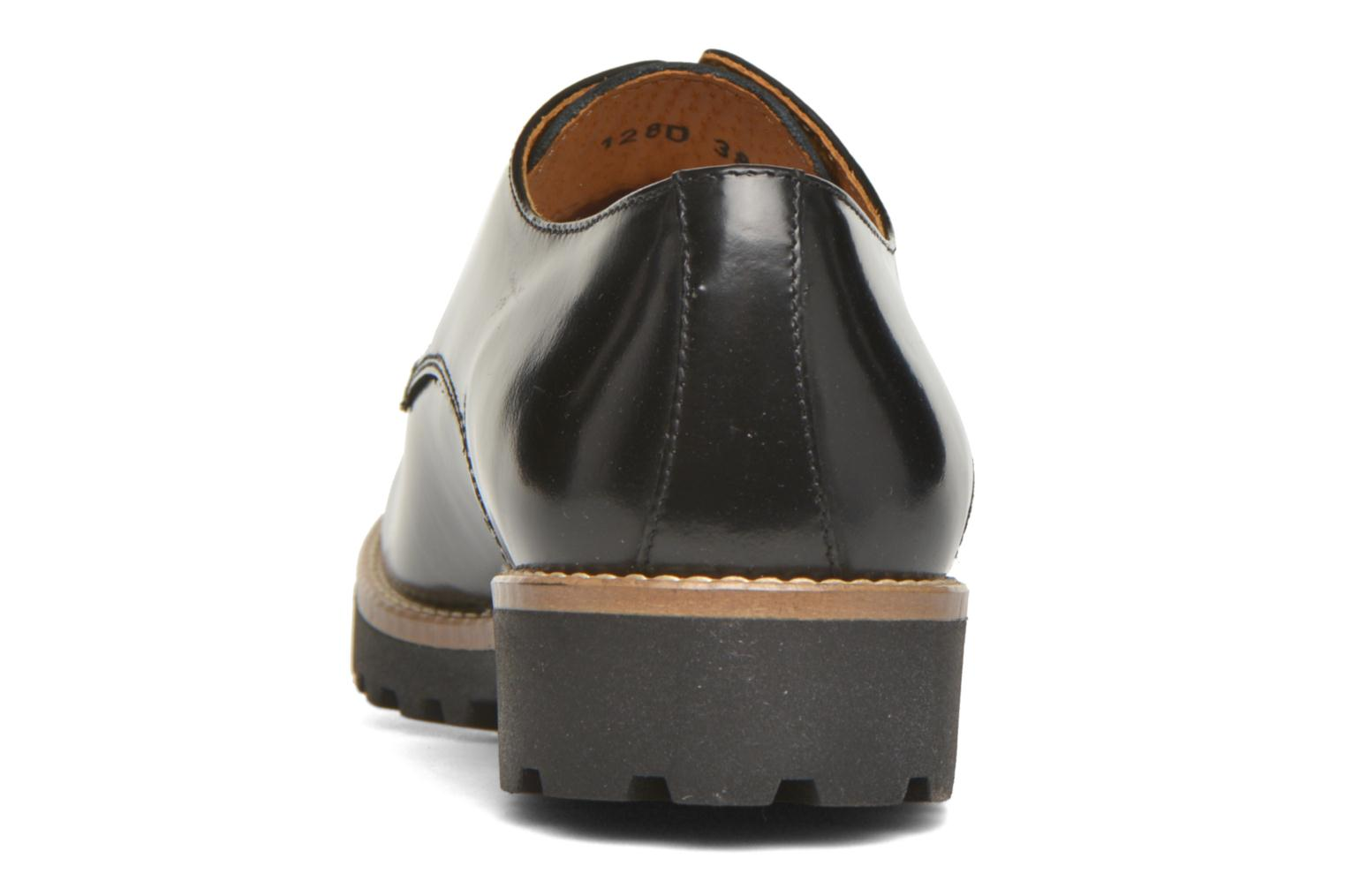Lace-up shoes Georgia Rose Nicran Black view from the right