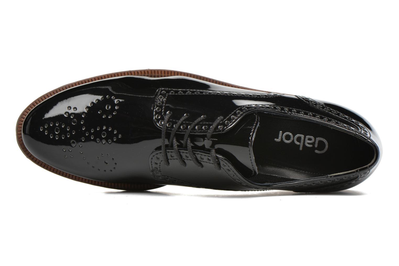 Chaussures à lacets Gabor Arielle Noir vue gauche