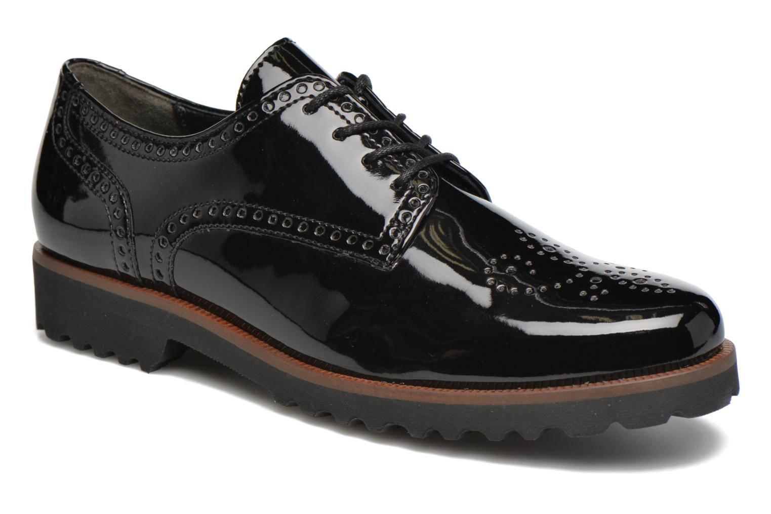 Lace-up shoes Gabor Arielle Black detailed view/ Pair view