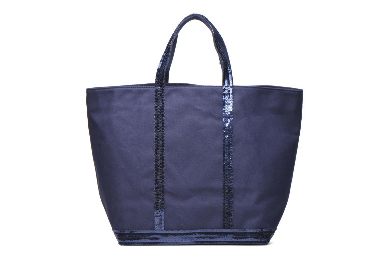 Handbags Vanessa Bruno Cabas paillettes toile Porté épaule M+ Blue front view
