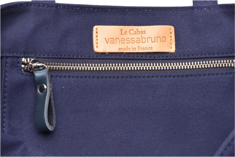 Handbags Vanessa Bruno Cabas paillettes toile Porté épaule M+ Blue back view