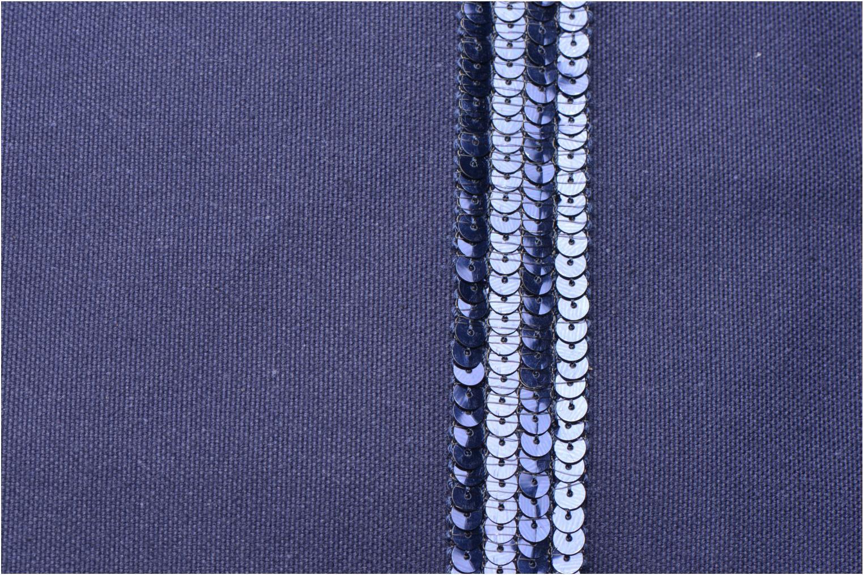 Handbags Vanessa Bruno Cabas paillettes toile Porté épaule M+ Blue view from the left