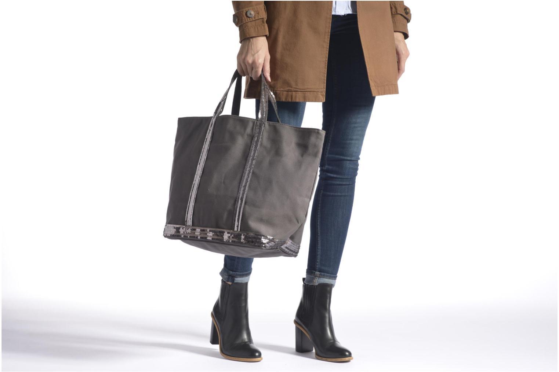 Handbags Vanessa Bruno Cabas paillettes toile Porté épaule M+ Blue view from above