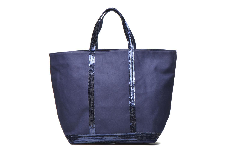 Handbags Vanessa Bruno Cabas paillettes toile Porté épaule M+ Blue detailed view/ Pair view