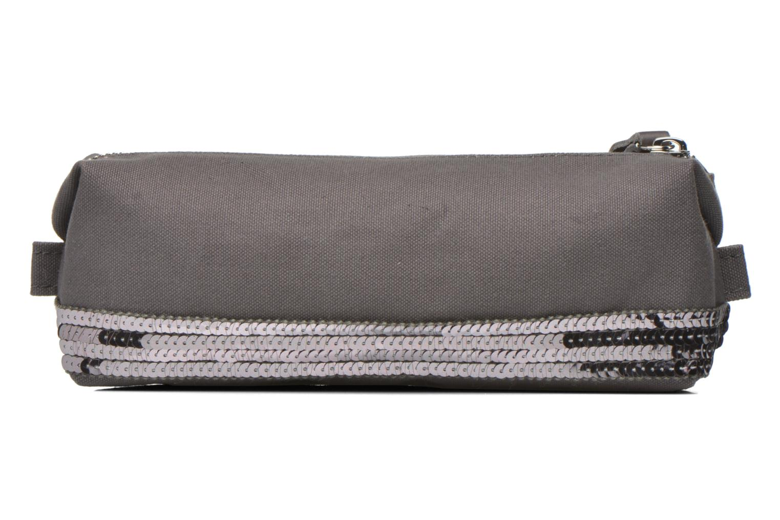 School bags Vanessa Bruno Trousse paillettes toile Grey detailed view/ Pair view
