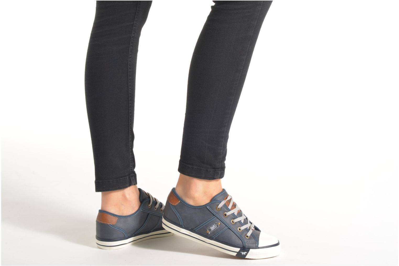 Sneaker Mustang shoes Pluy braun ansicht von unten / tasche getragen