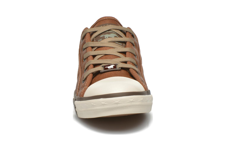 Sneaker Mustang shoes Pluy braun schuhe getragen