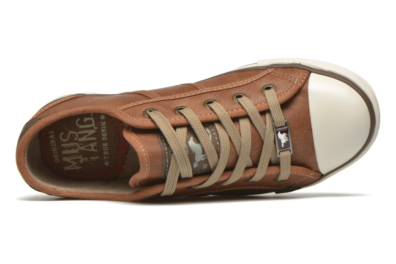Sneaker Mustang shoes Pluy braun ansicht von links