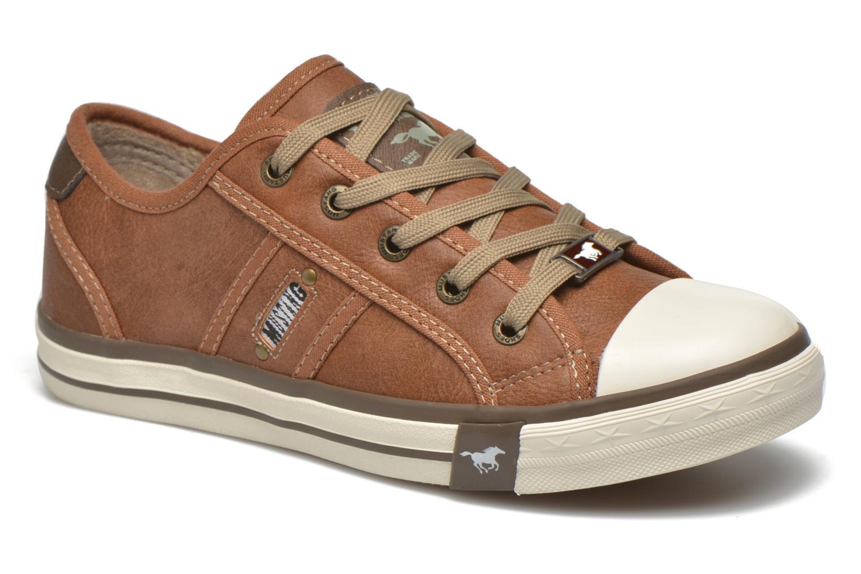 Baskets Mustang shoes Pluy Marron vue détail/paire