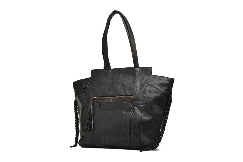 Bolsos de mano Pieces POFO Leather bag Negro vista del modelo