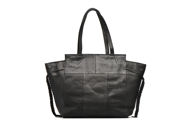 Bolsos de mano Pieces POFO Leather bag Negro vista de frente
