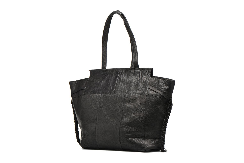 Bolsos de mano Pieces POFO Leather bag Negro vista lateral derecha