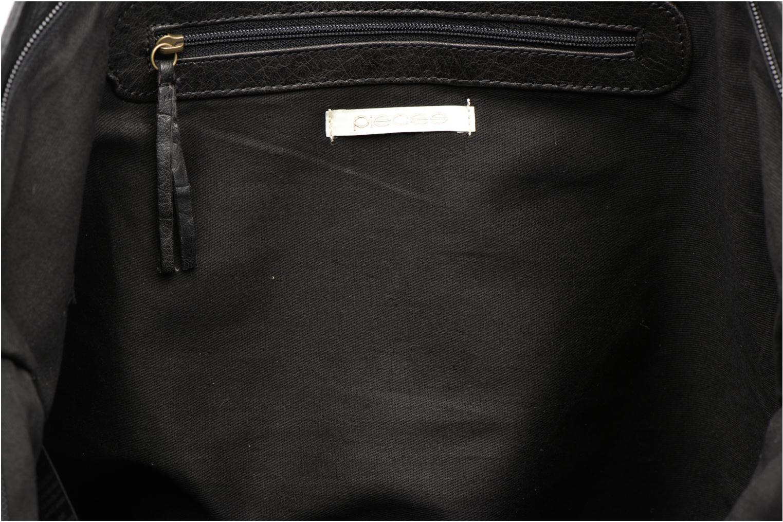 Bolsos de mano Pieces POFO Leather bag Negro vistra trasera