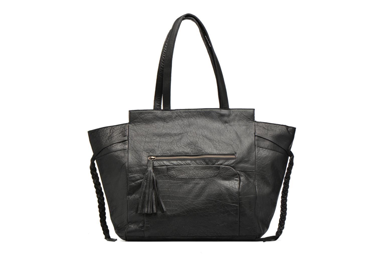 Bolsos de mano Pieces POFO Leather bag Negro vista de detalle / par