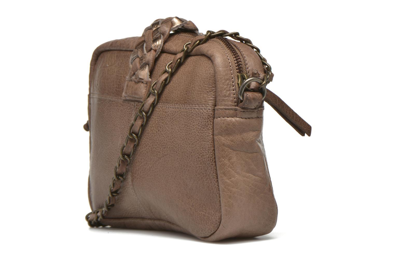 Sacs à main Pieces PIVO Leather Crossbody bag Beige vue droite