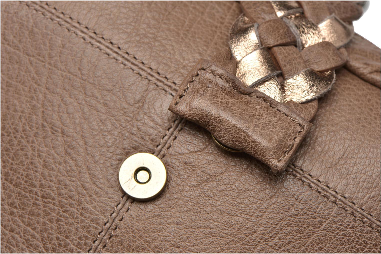 Sacs à main Pieces PIVO Leather Crossbody bag Beige vue gauche