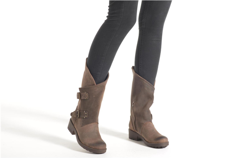 Bottines et boots Coolway Alida Noir vue bas / vue portée sac