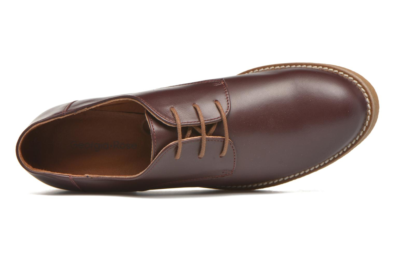 Lace-up shoes Georgia Rose Lucreppy Burgundy view from the left