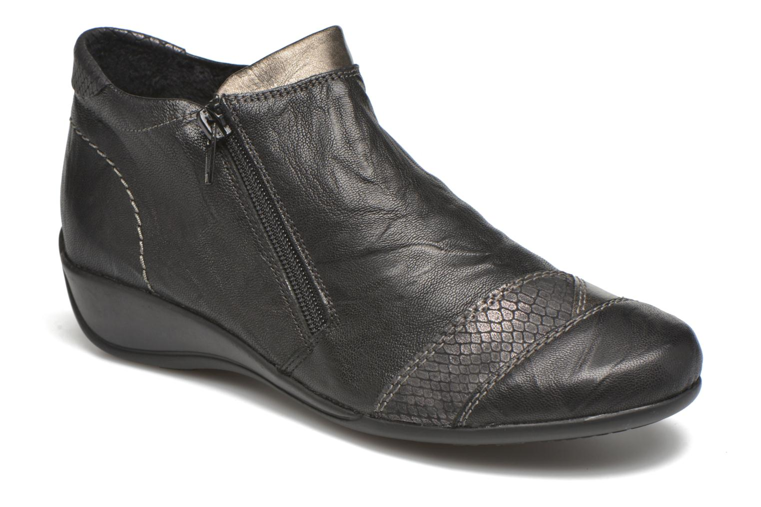 Ankle boots Remonte Laure R9883 Black detailed view/ Pair view