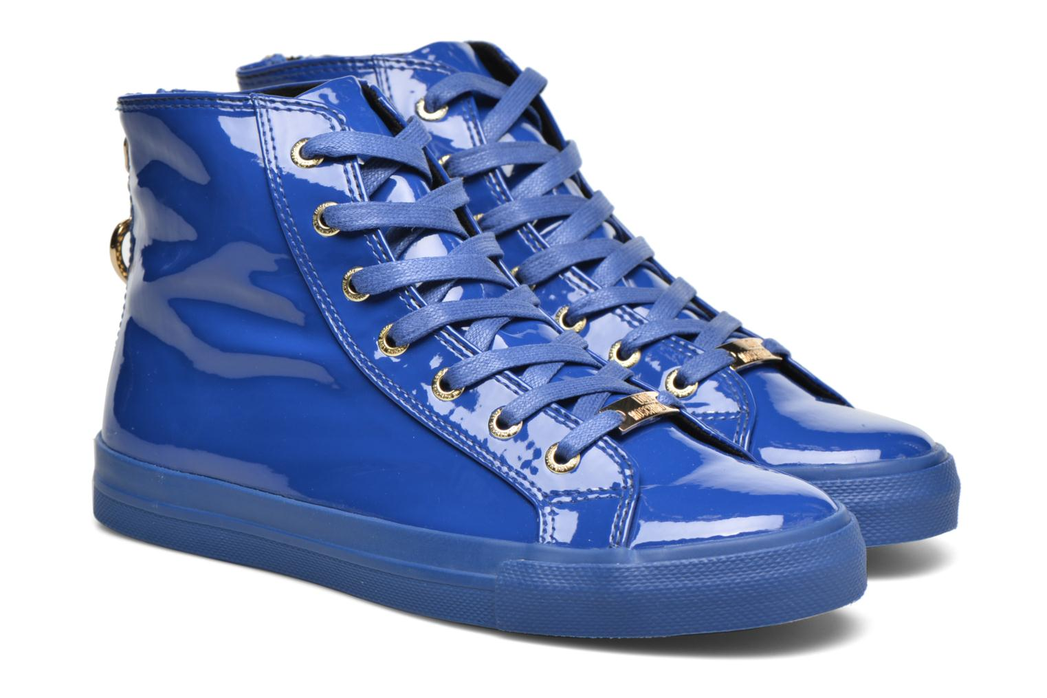Trainers Love Moschino Ocean Blue 3/4 view